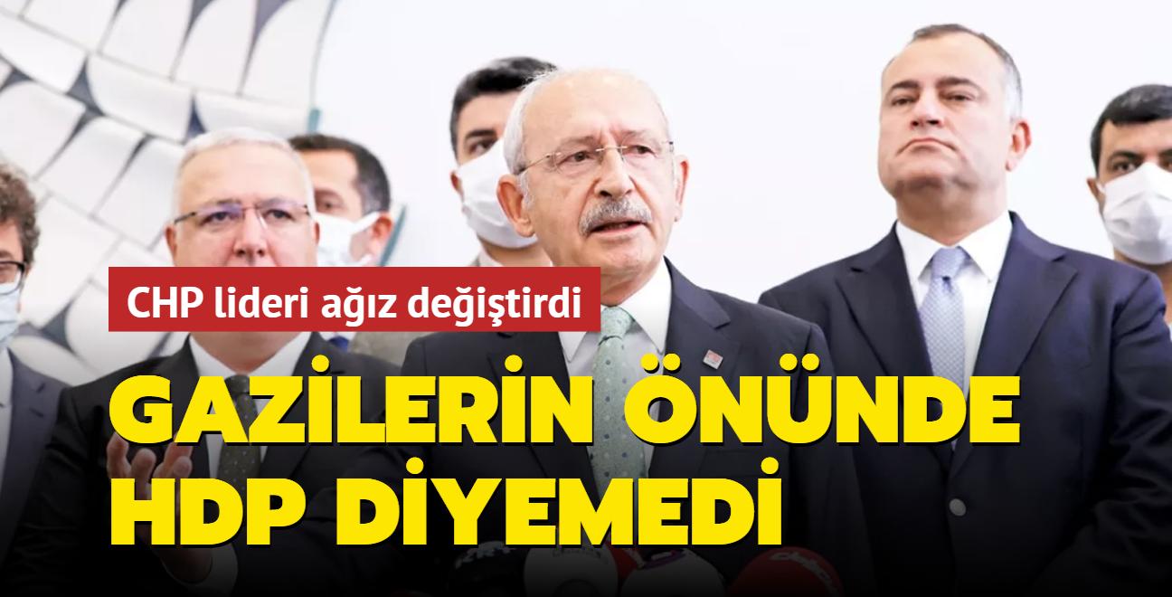 Gazilerin önünde HDP diyemedi