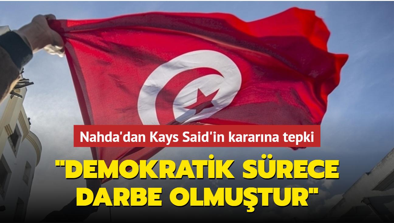 Nahda'dan Cumhurbaşkanı Kays'ın kararına tepki: Demokratik sürece darbe olmuştur