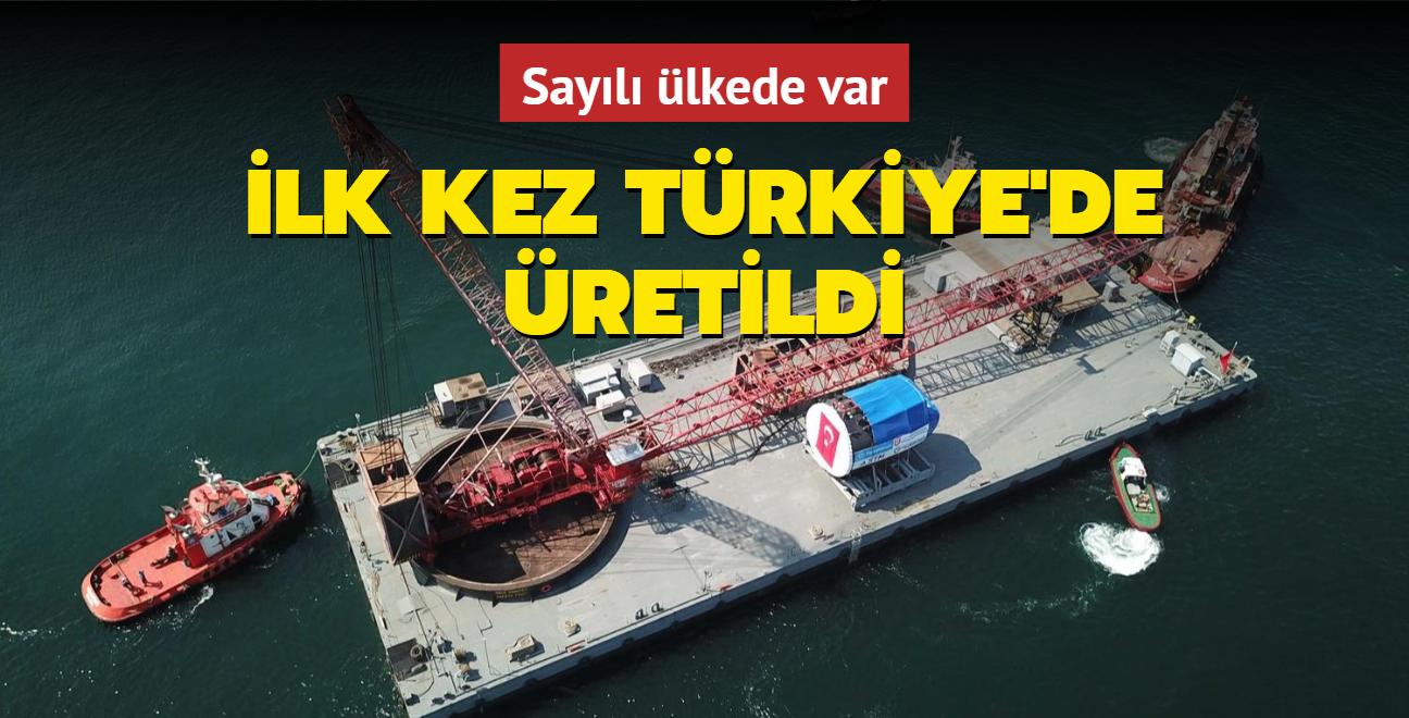 Sayılı ülkede olan denizaltı torpido kovan bölümü ilk kez Türkiye'de üretildi