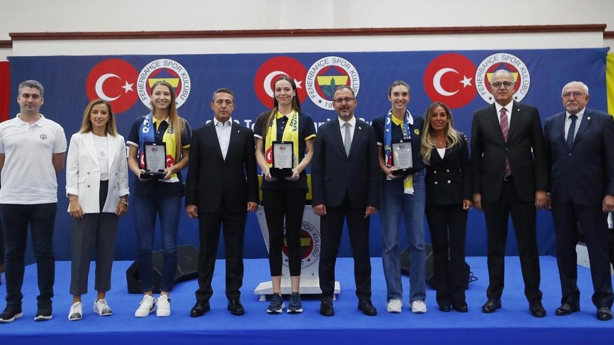 Bakan Kasapoğlu Fenerbahçe'nin düzenlediği etkinliğe katıldı