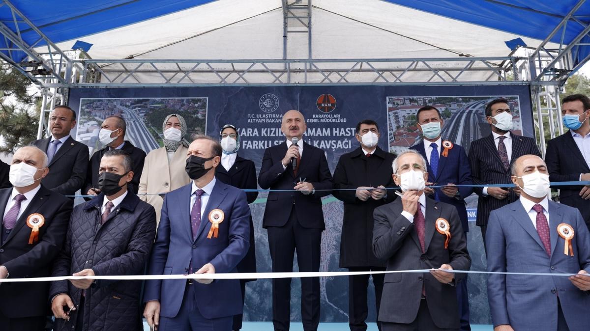 Kızılcahamam Hastanesi Kavşağı açıldı