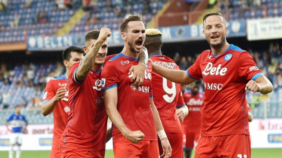 Napoli ligde 5'te 5 yaptı! Son kurban Sampdoria...
