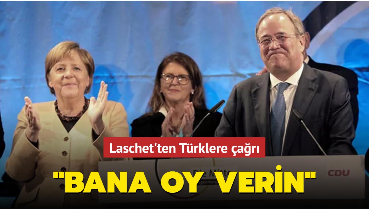 Almanya'da başbakan adayı Laschet'ten Türklere çağrı: Bana oy verin