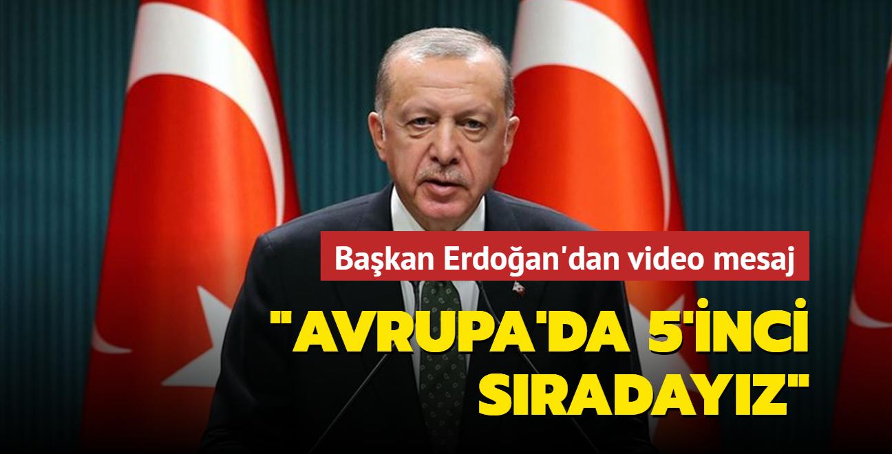 Başkan Erdoğan: Avrupa'da 5'inci, dünyada 12'nci sıradayız