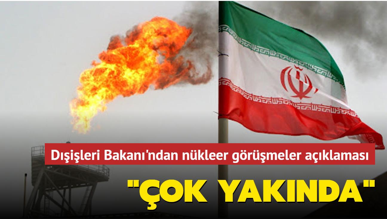 """Dışişleri Bakanı Abdullahiyan, nükleer görüşmelere işaret etti: """"Çok yakında"""""""