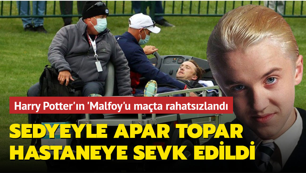 Harry Potter'ın Malfoy'u Tom Felton golf maçında hastaneye kaldırıldı