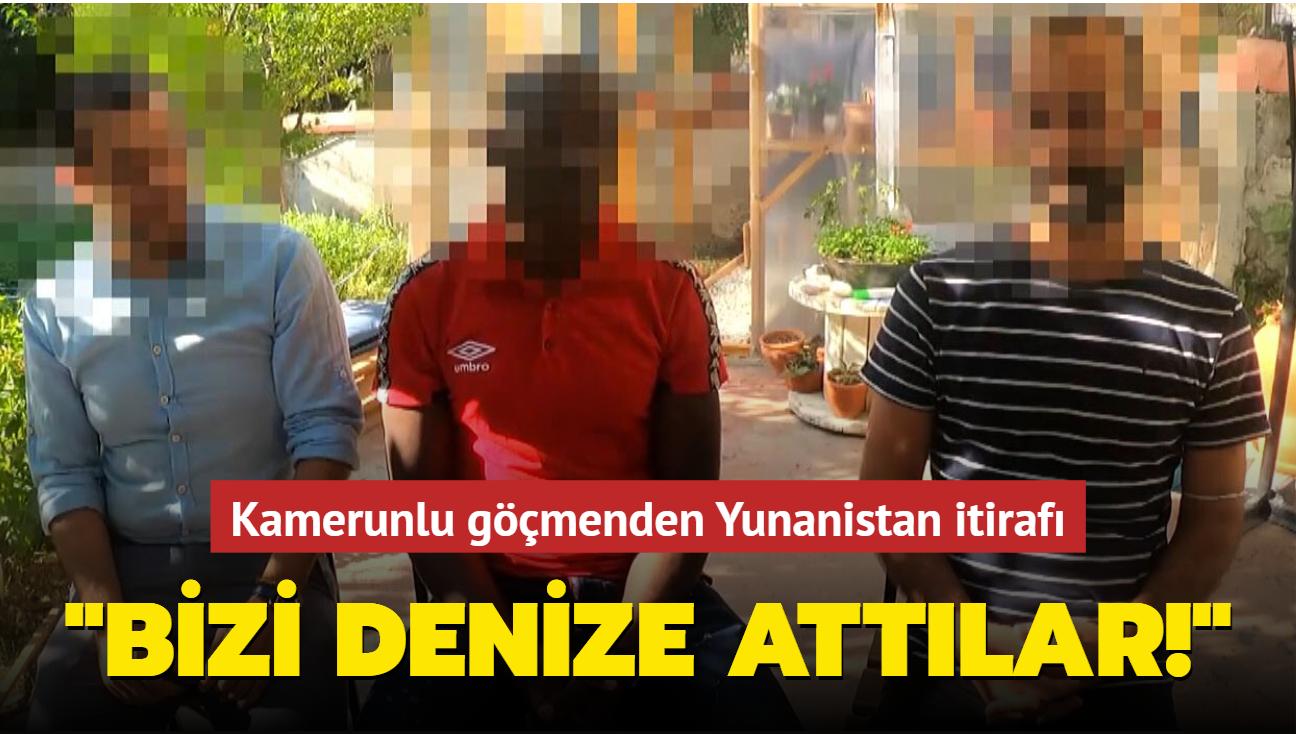 Kamerunlu göçmenden Yunanistan itirafı: Bizi denize attılar!