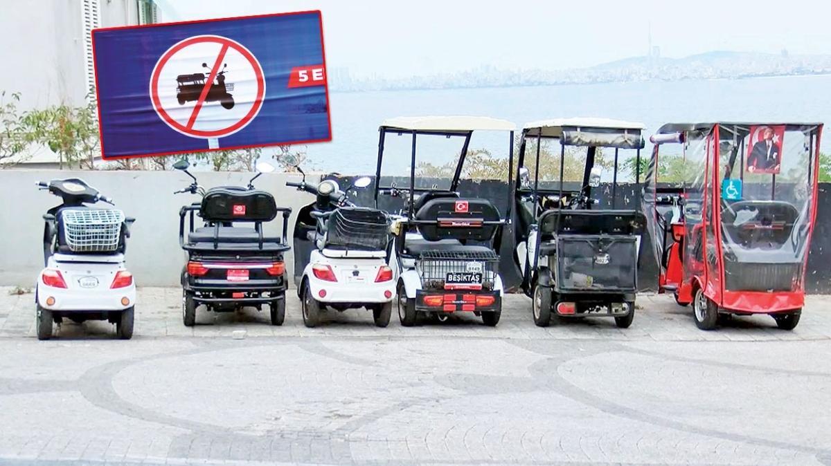 Adalar'da akülü araç yasaklandı