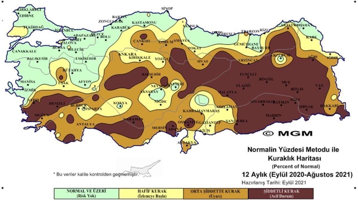 Meteoroloji raporu yayımlandı: Şiddetli kuraklık uyarısı