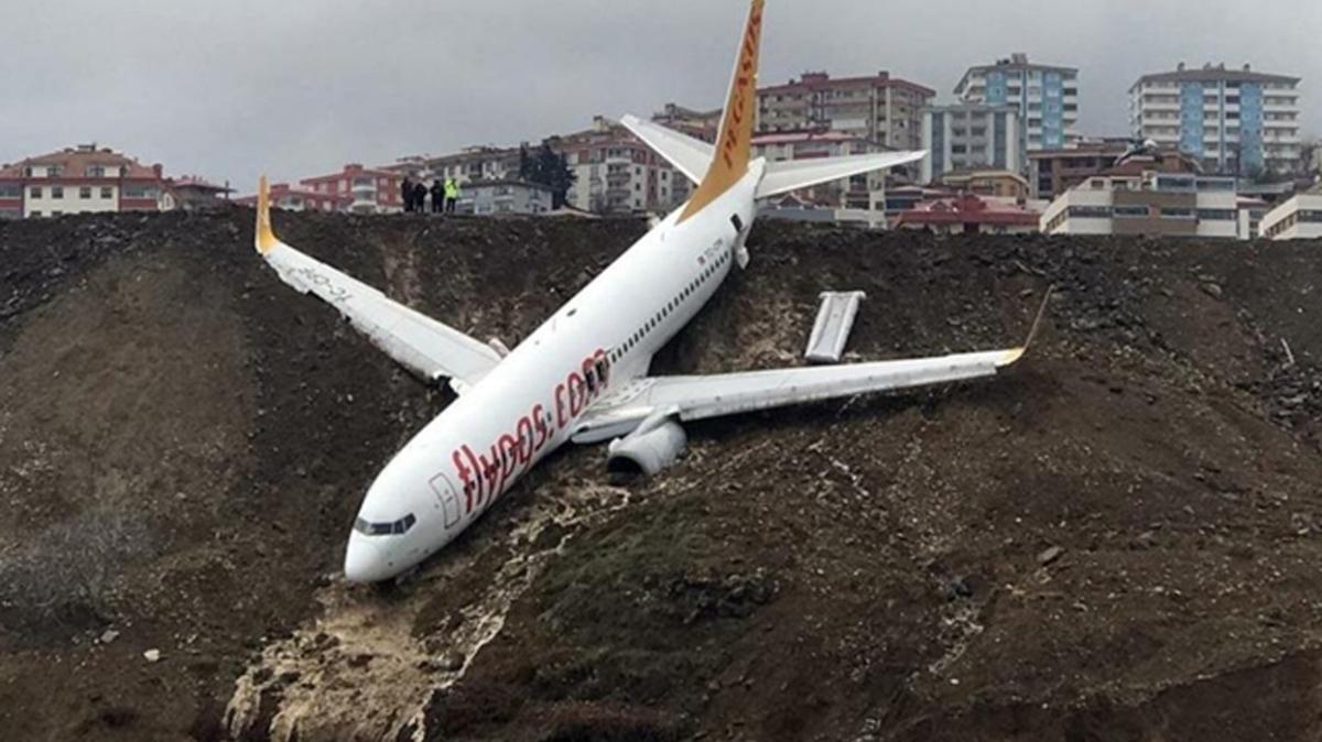 Trabzon Havalimanı'nda yaşanan kazanın raporu hazırlandı