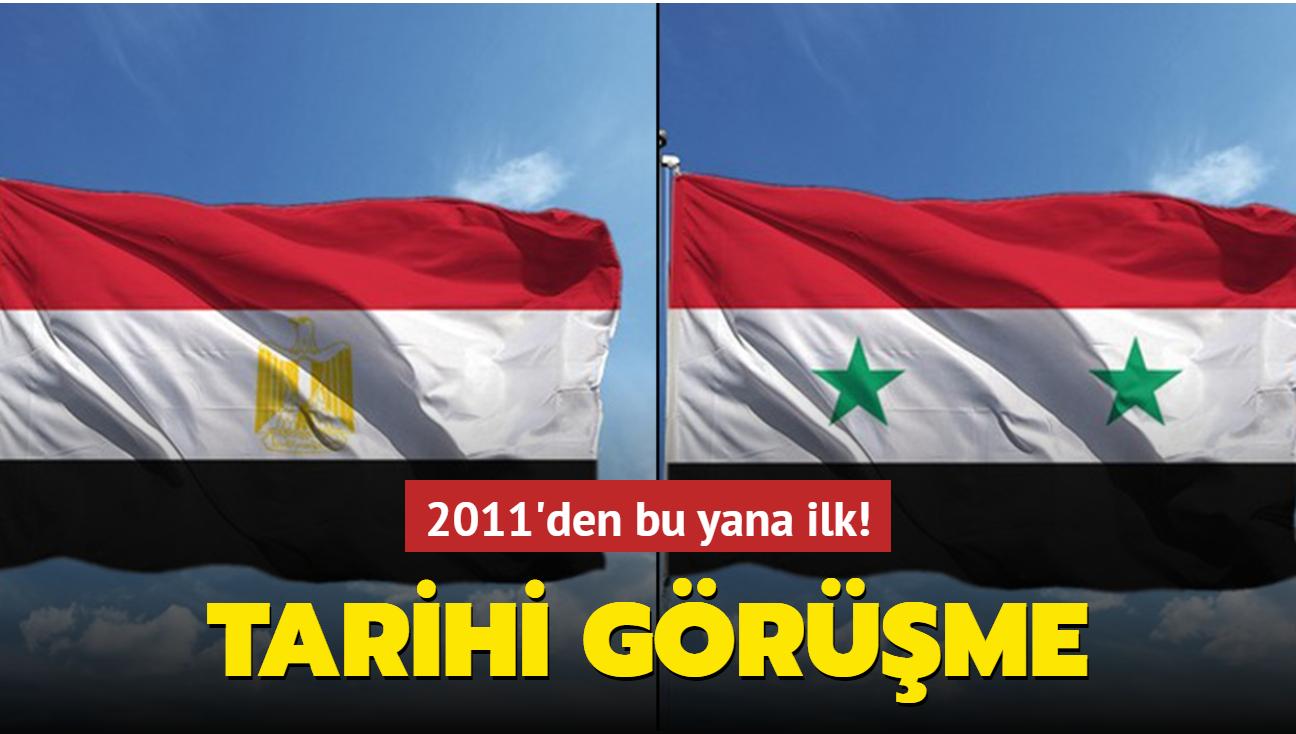 Mısır ve Suriye dışişleri bakanları 2011'den bu yana ilk kez görüştü