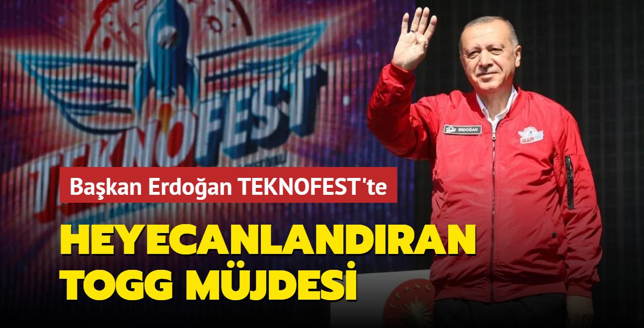 Başkan Erdoğan TEKNOFEST'te TOGG müjdesini verdi