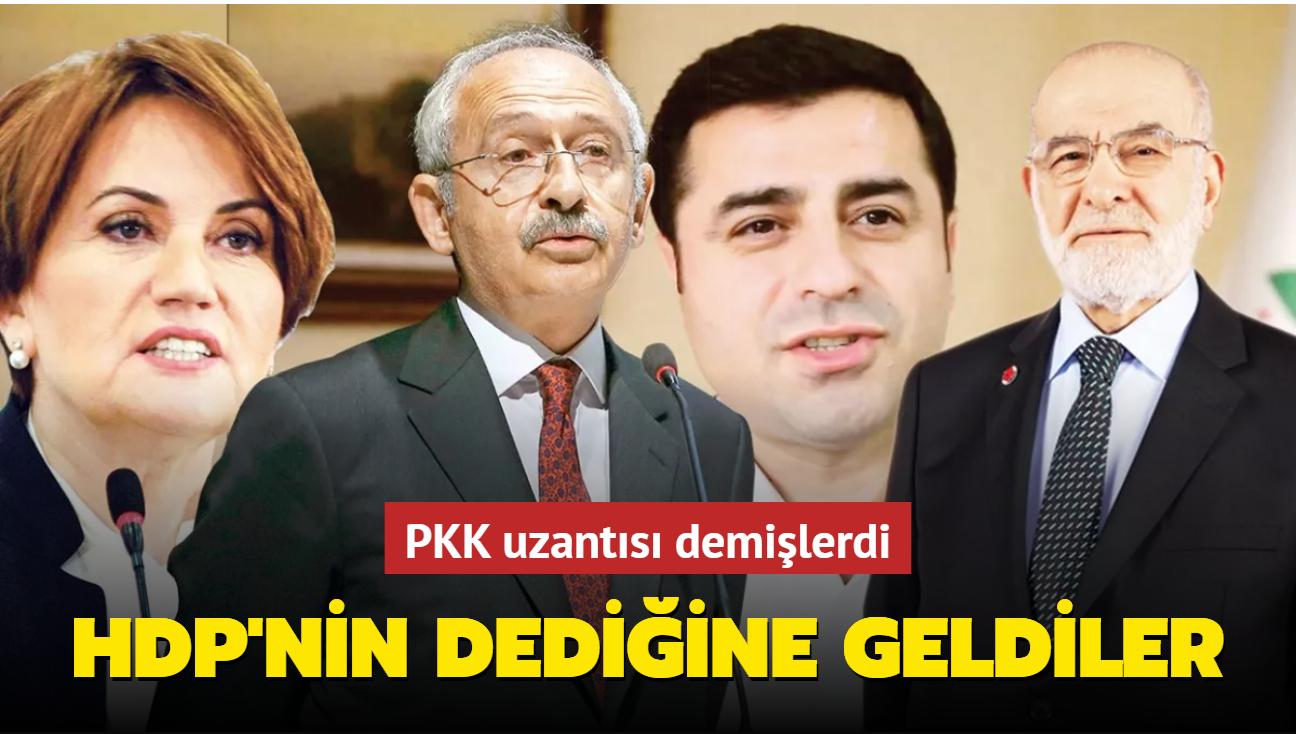 CHP, HDP'nin dediğine geldi