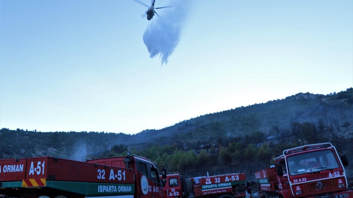 Burdur'daki orman yangını kontrol altında