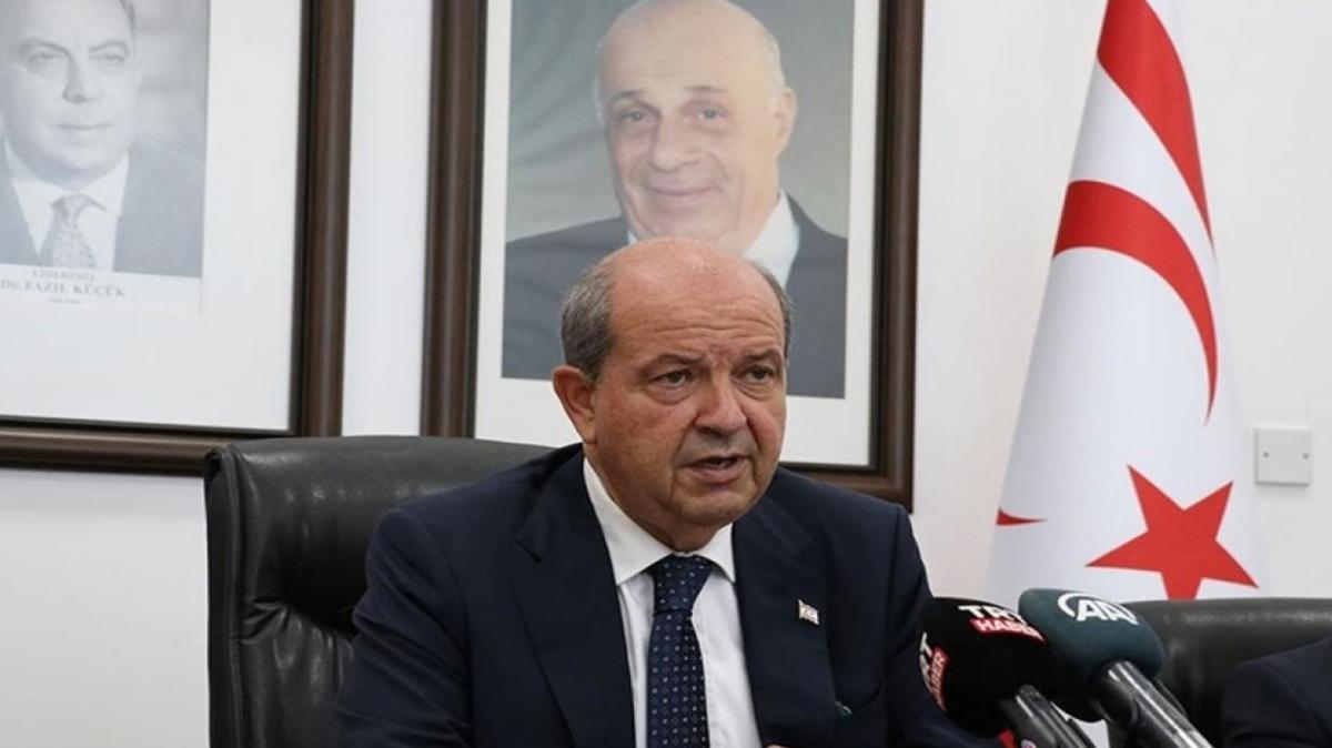 """KKTC Cumhurbaşkanı Tatar yazılı açıklamayla Anastasiadis'i eleştirdi... """"Saldırgan bir üslup"""""""