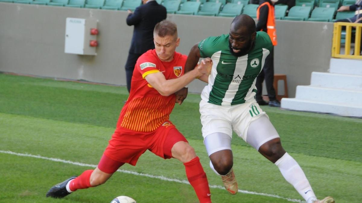 Giresunspor yine kazanamadı: 1-1