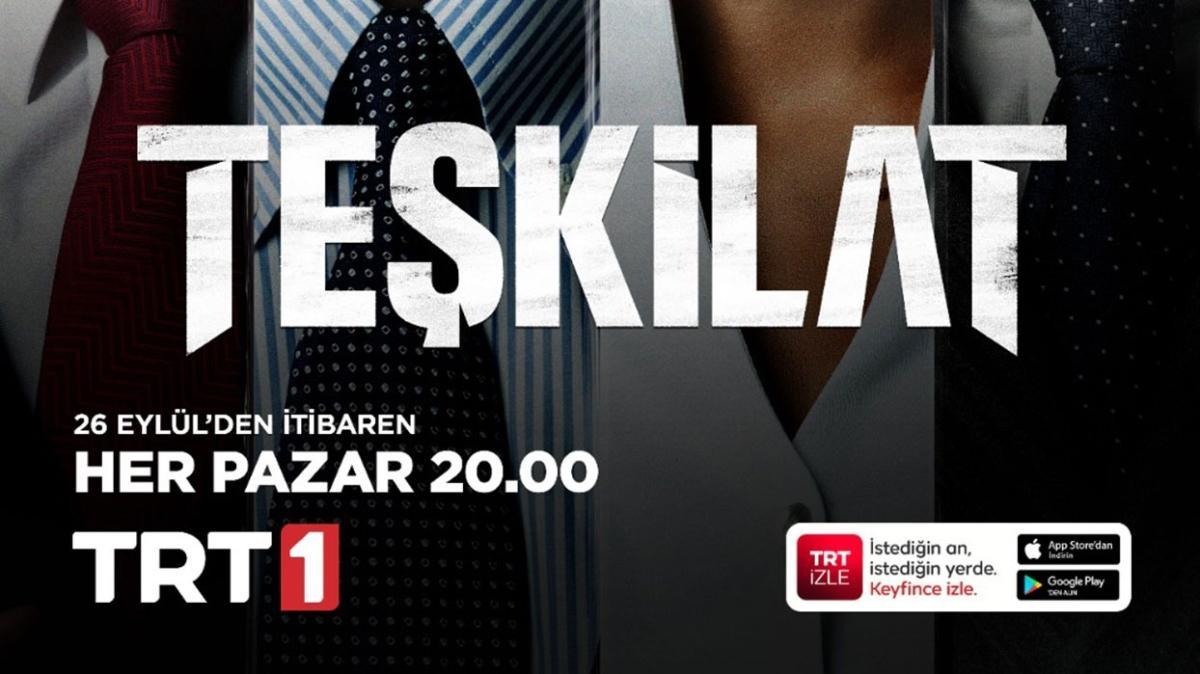 """""""Teşkilat"""" Yeni Sezon İlk Bölümüyle Bu Akşam TRT 1'de"""