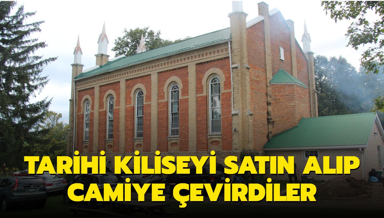 Tarihi kiliseyi satın alıp camiye çevirdiler