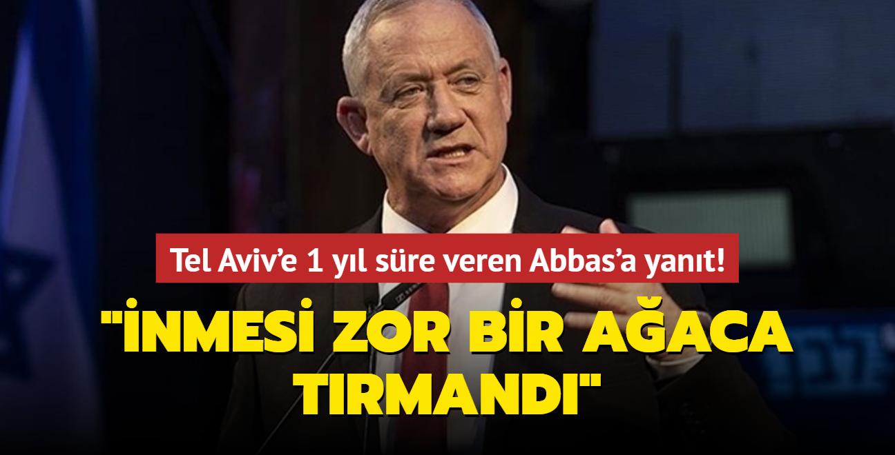 Tel Aviv'e 1 yıl süre veren Abbas'a İsrail Savunma Bakanından yanıt: İnmesi zor bir ağaca tırmandı
