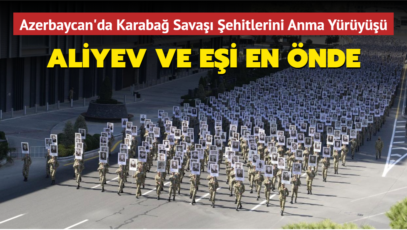 Azerbaycan'da Karabağ Savaşı Şehitlerini Anma Yürüyüşü düzenlendi