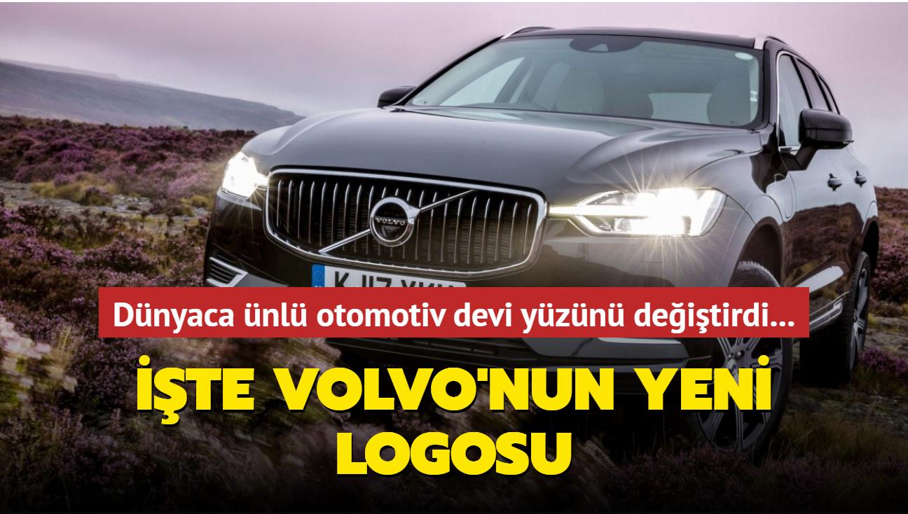 Dünyaca ünlü otomotiv devi yüzünü değiştirdi... İşte Volvo'nun yeni logosu