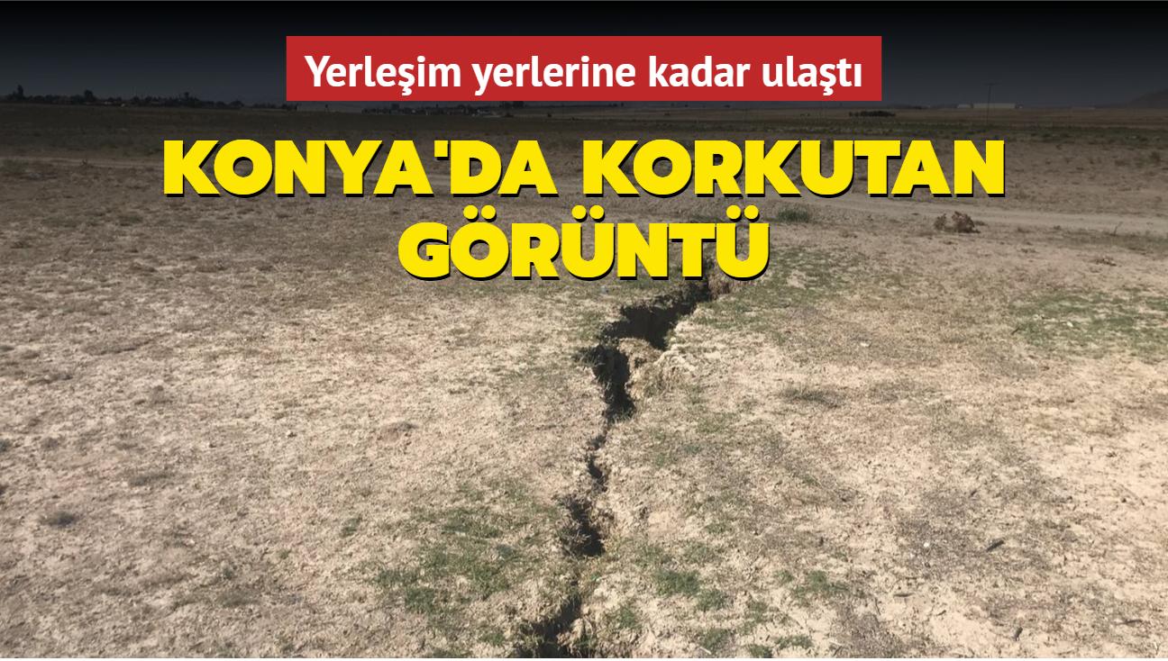 Konya'da korkutan görüntü... Yerleşim yerlerine kadar ulaştı