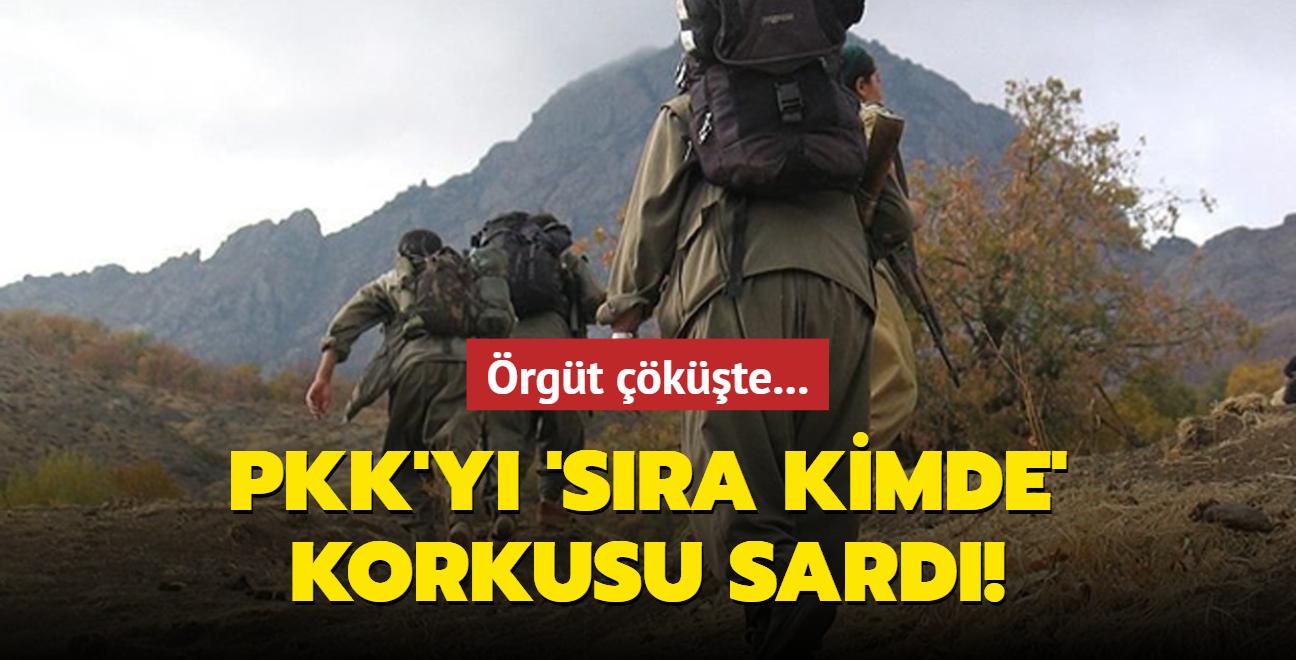 PKK'yı 'sıra kimde' korkusu sardı! Örgüt çöküşte