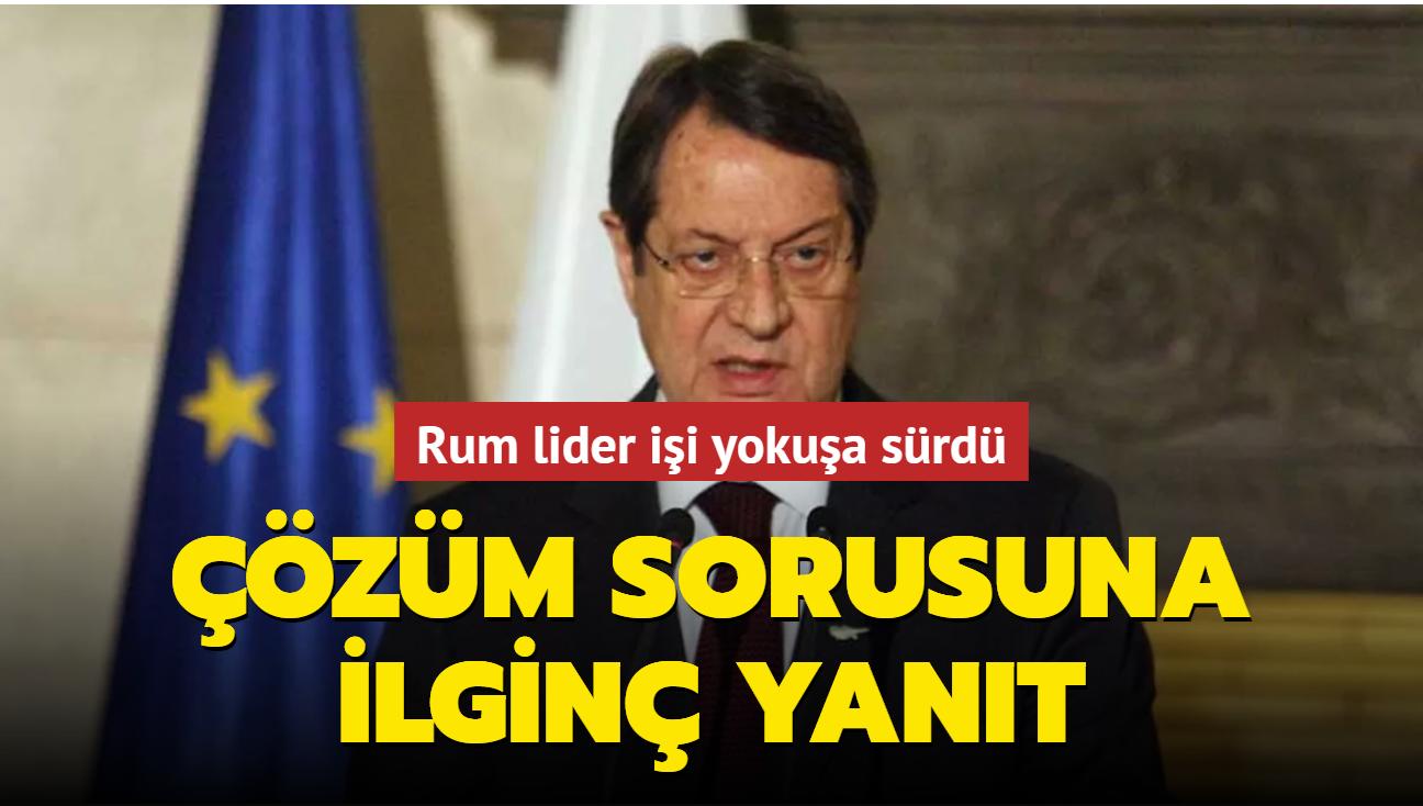 """Rum lider Anastasiadis'ten kritik zirve öncesi gerginliği artıran açıklama: Çözüme """"Hayır"""" dedi"""