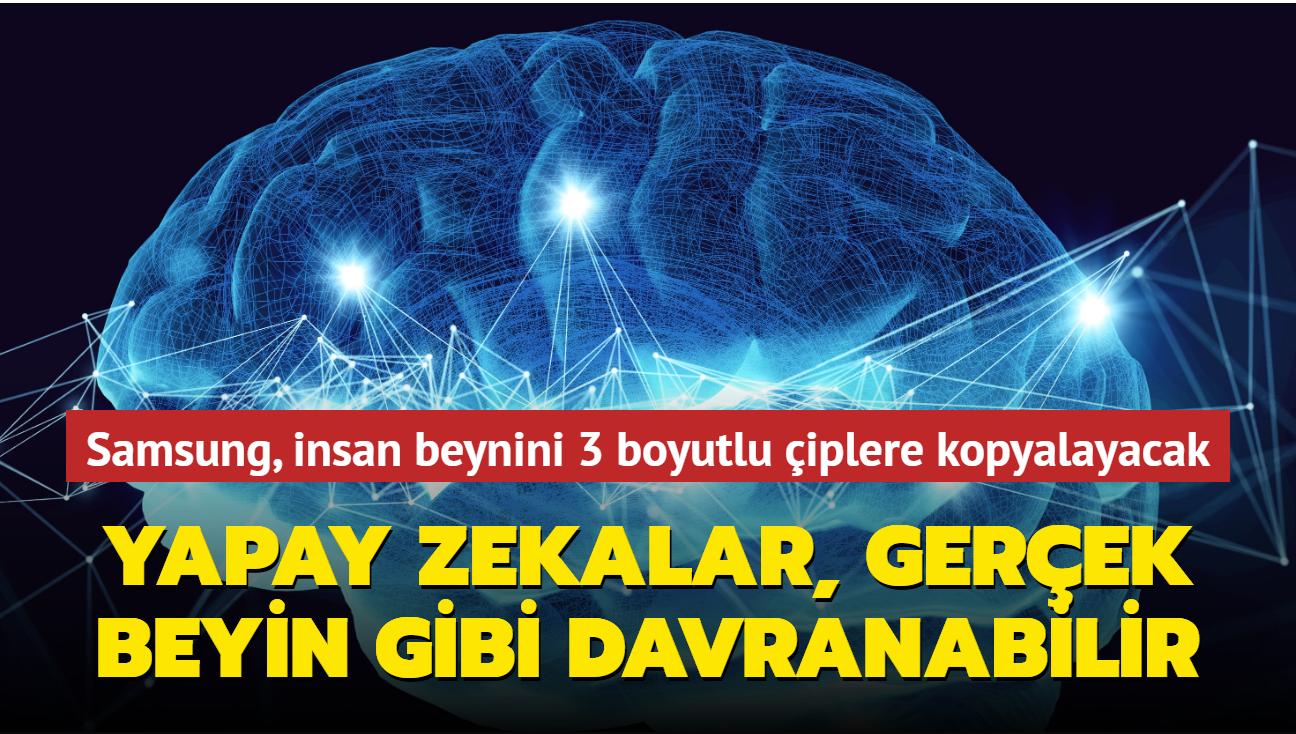 Samsung, beynin nöron haritasını 3 boyutlu çiplere kopyalamayı planlıyor
