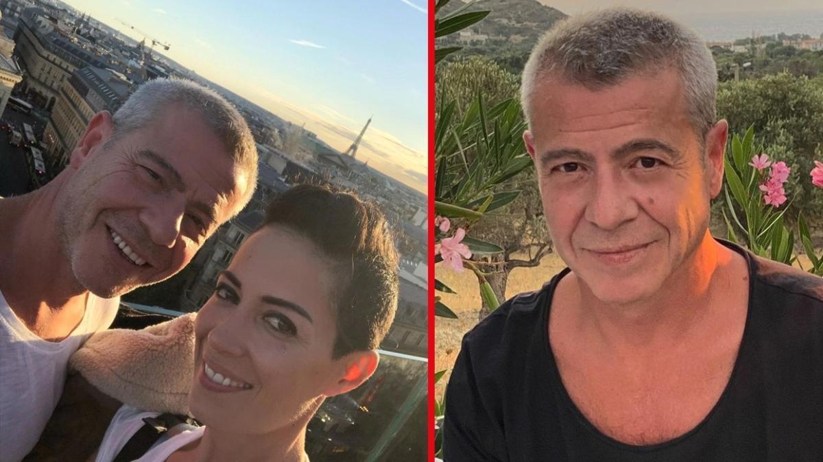 Levent Yüksel ve kendisinden 17 yaş küçük eşi Özlem Öztürk'ten sahilde romantik poz