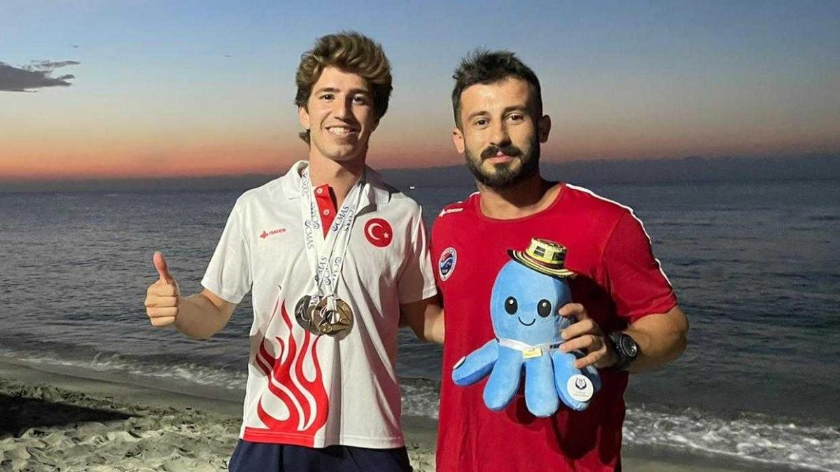 Milli sporcu Derin Toparlak'tan önce altın madalya şimdi de dünya üçüncülüğü