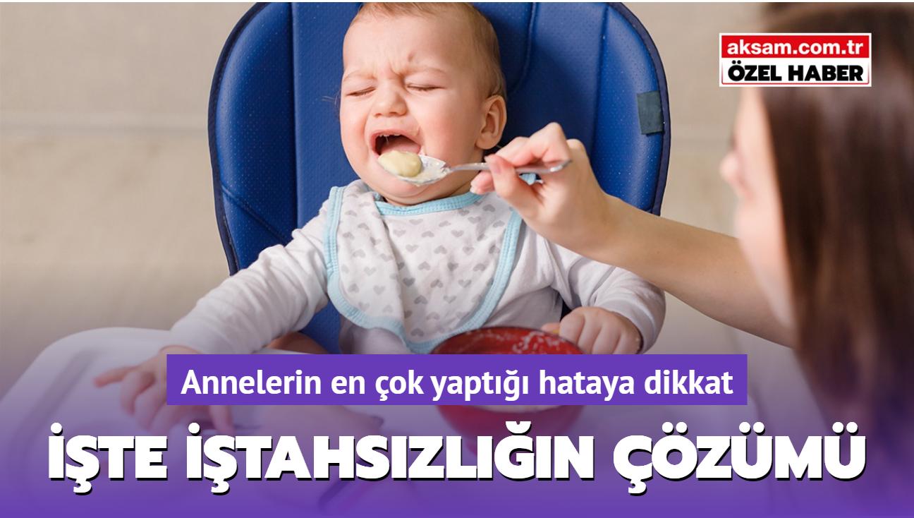 Bebeklerin ek gıdayı sevmesi için en az 8 kere tatması gerekir