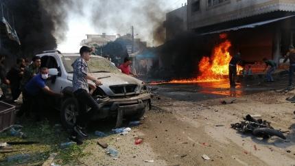 Suriye'nin Cerablus ilçesinde terör saldırısı