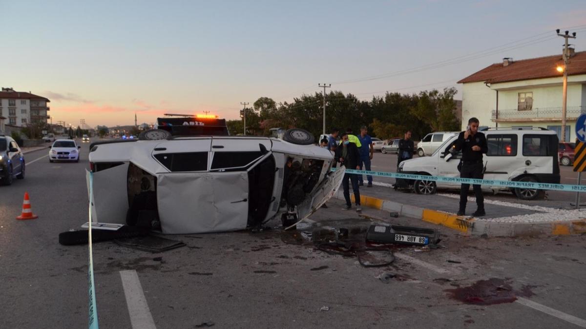 Aksaray'da meydana gelen kazada 1 kişi öldü, 1 kişi yaralandı