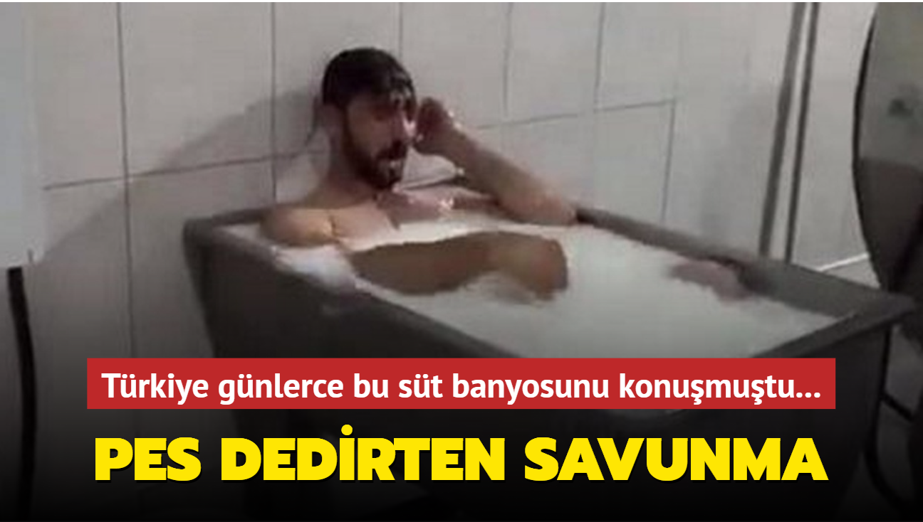 Türkiye günlerce bu süt banyosunu konuşmuştu... Pes dedirten savunma