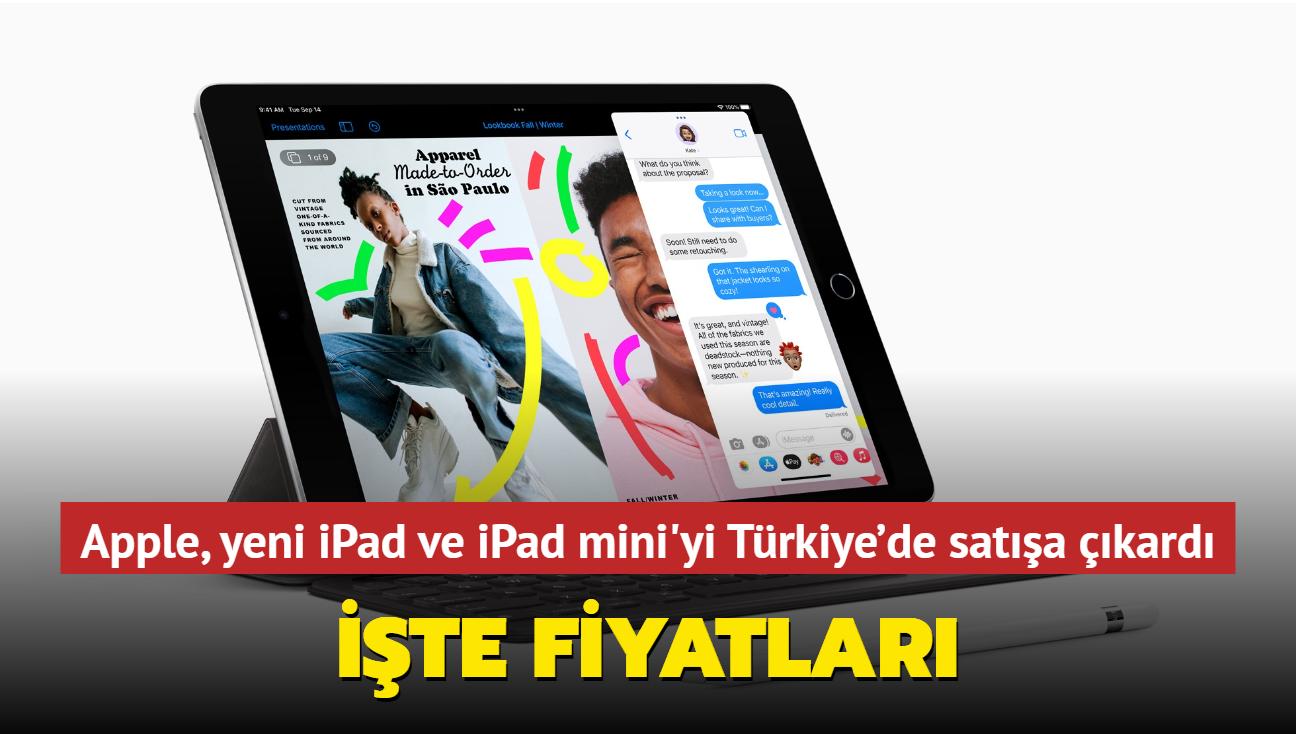 Yeni iPad ve iPad mini, Türkiye'de satışa sunuldu