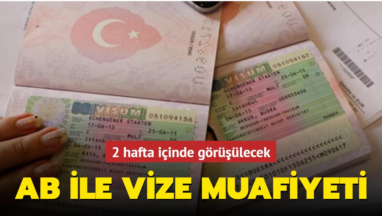 AB ile Türkiye arasında vize muafiyeti görüşmesi 2 hafta içerisinde yapılacak