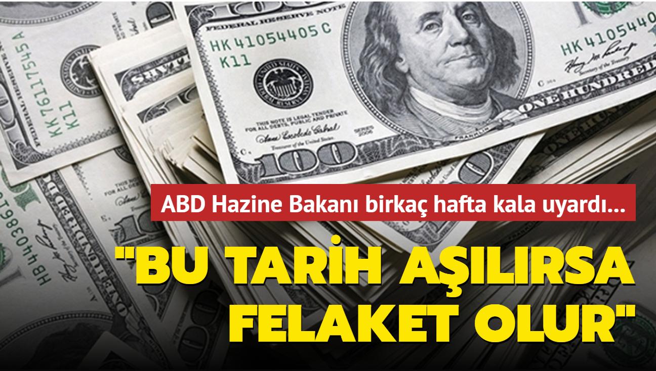 """ABD Hazine Bakanı """"18 Ekim"""" dedi... Bu tarih aşılırsa ABD borçlarını ödeyememekle karşı karşıya"""