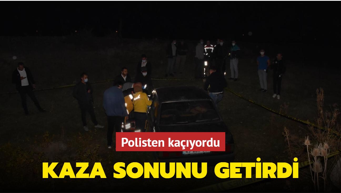 Polisten kaçıyordu... Kaza sonunu getirdi