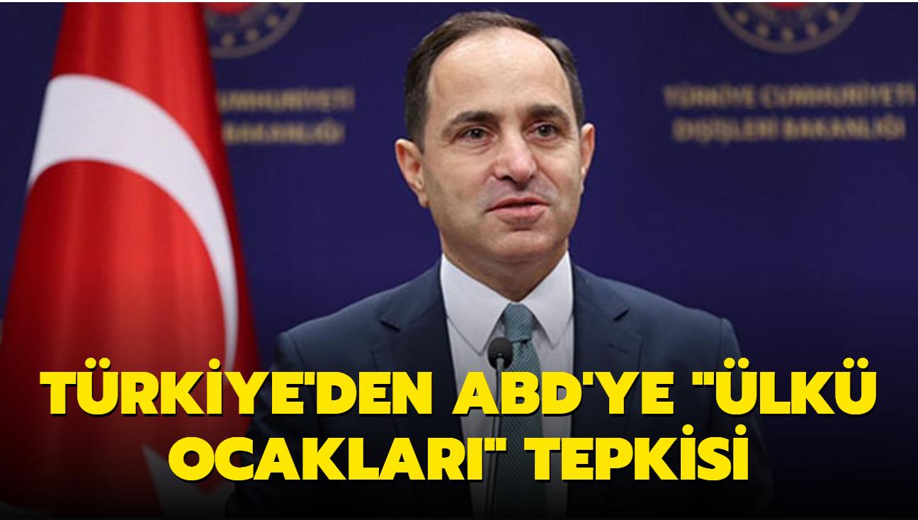 """Türkiye'den ABD'ye """"Ülkü Ocakları"""" tepkisi"""