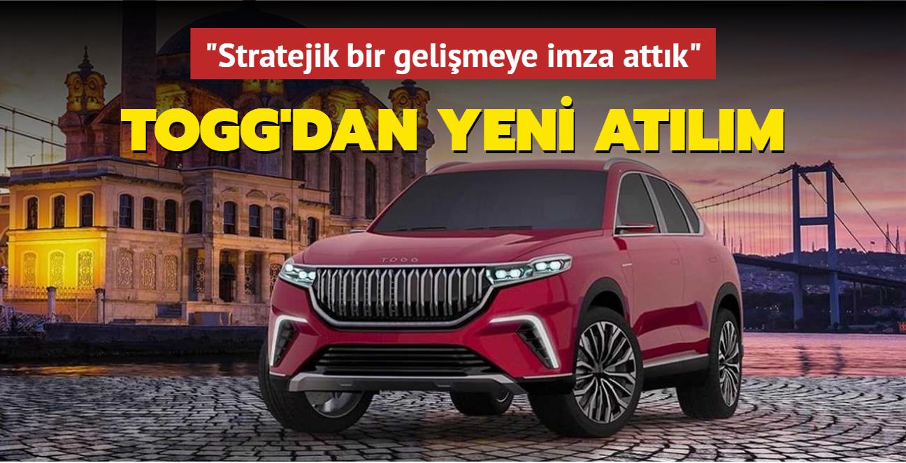 Türkiye'nin Otomobili TOGG'dan yeni atılım: Stratejik bir gelişmeye imza attık