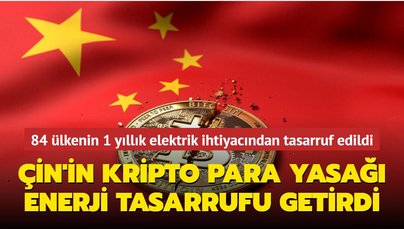 Çin'in kripto para yasağı, birçok ülkenin enerji ihtiyacını karşılayacak tasarrufu getirdi