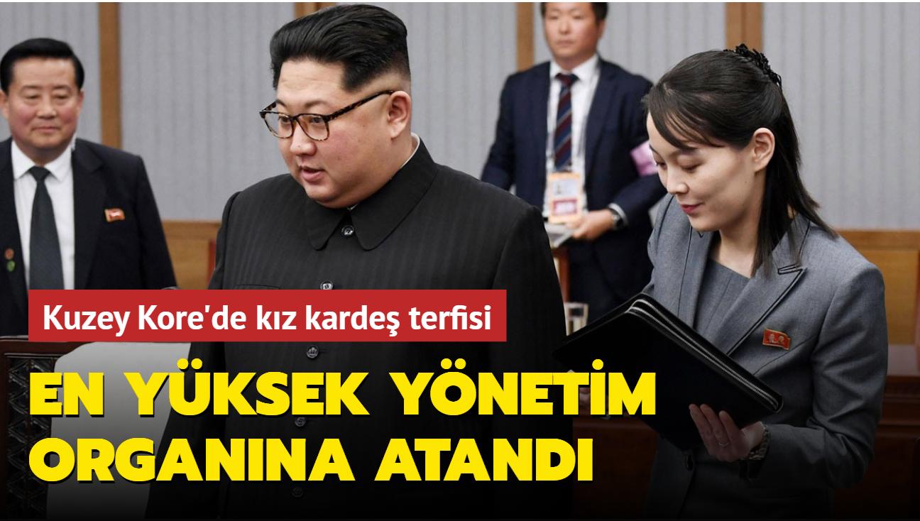 Kim Jong Un'un kız kardeşi Kim Yo Jong en yüksek karar alma organına terfi etti