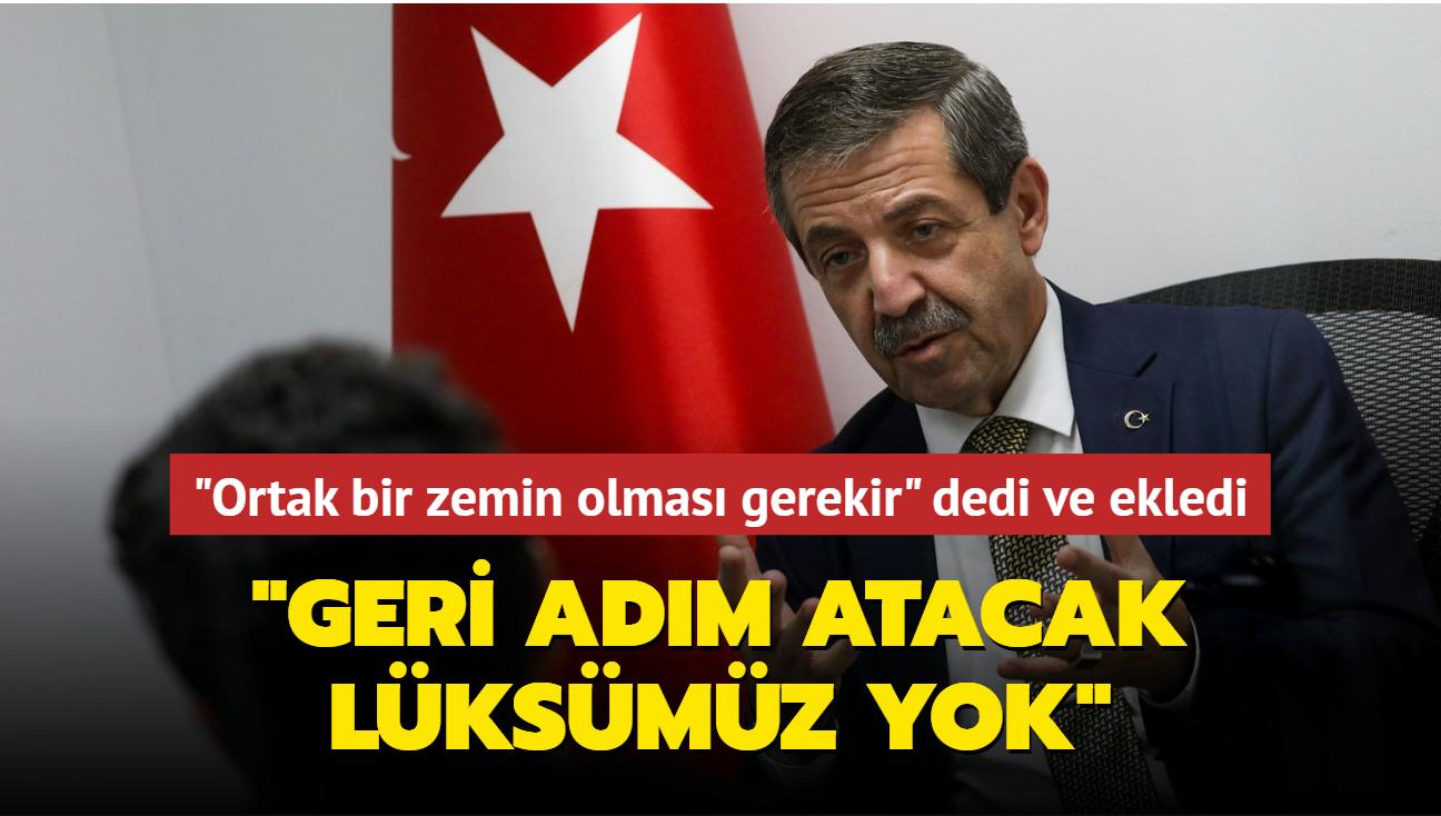 KKTC Dışişleri Bakanı Ertuğruloğlu: Geri adım atacak lüksümüz yok