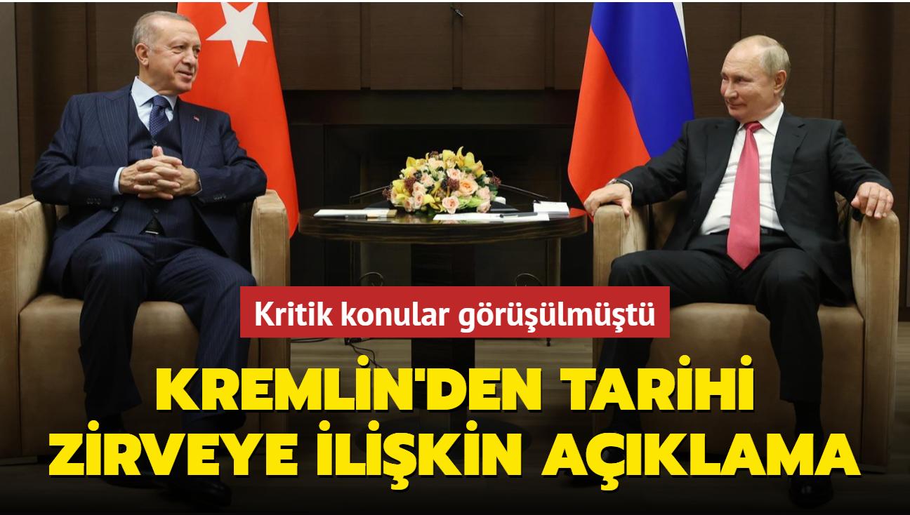 Kritik konular görüşülmüştü... Kremlin'den tarihi zirveye ilişkin açıklama