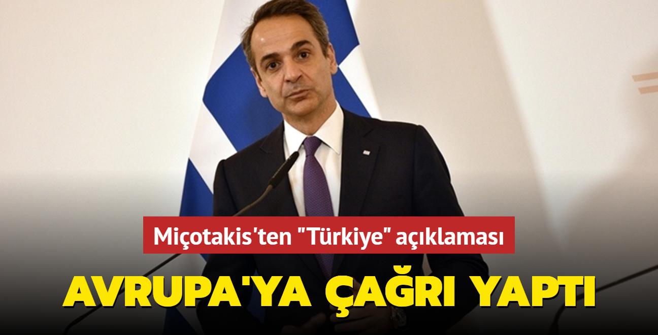 """Miçotakis'ten """"Türkiye"""" açıklaması... Avrupa'ya çağrı yaptı"""