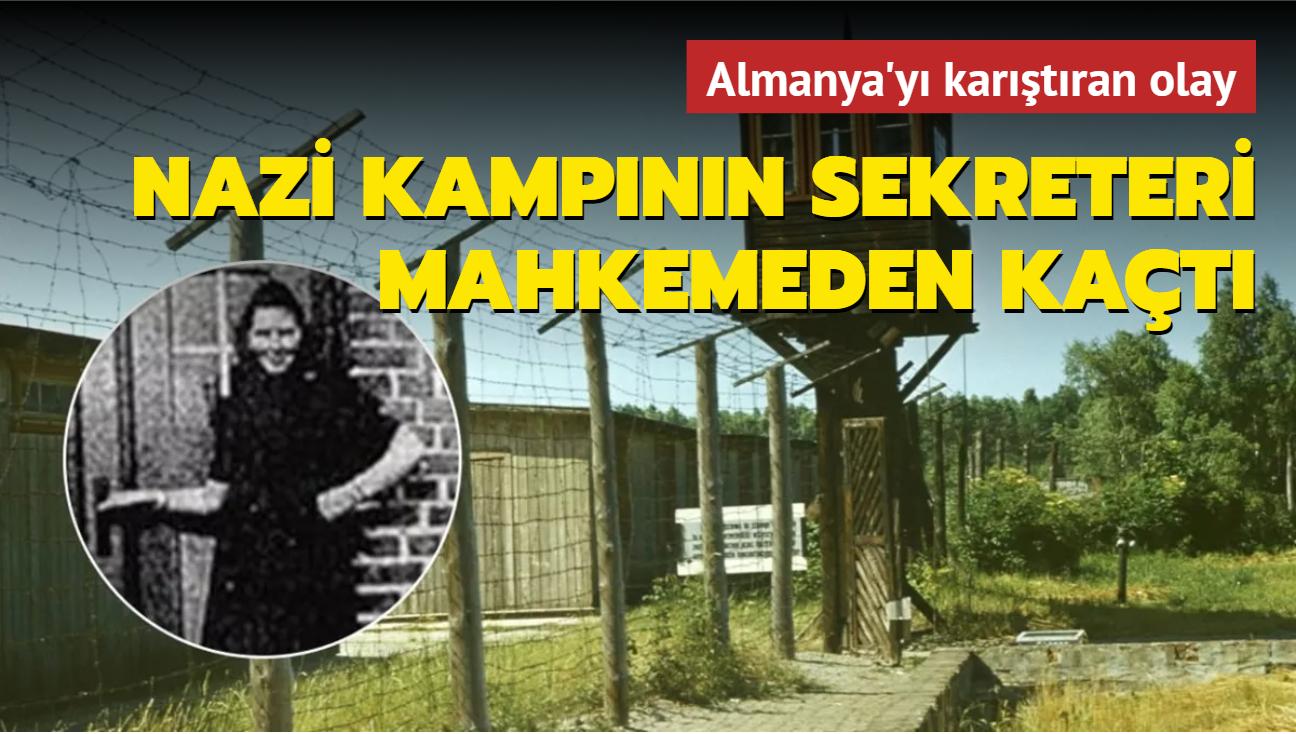 Nazi kampının sekreteri mahkemeden önce kayıplara karışmıştı, yakalandı