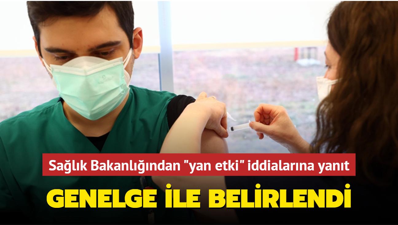 """Sağlık Bakanlığından """"yan etki"""" iddialarına yanıt: Genelge ile belirlendi"""