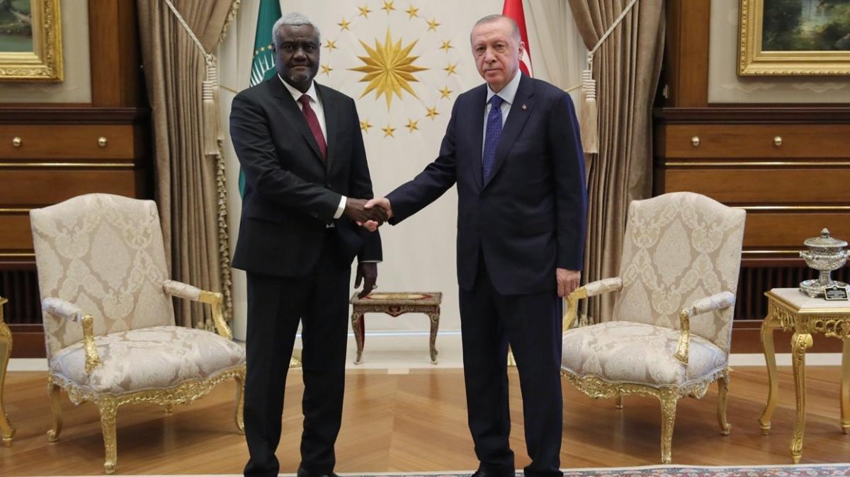 Başkan Erdoğan, Afrika Birliği Komisyonu Başkanı Mahamat'ı kabul etti