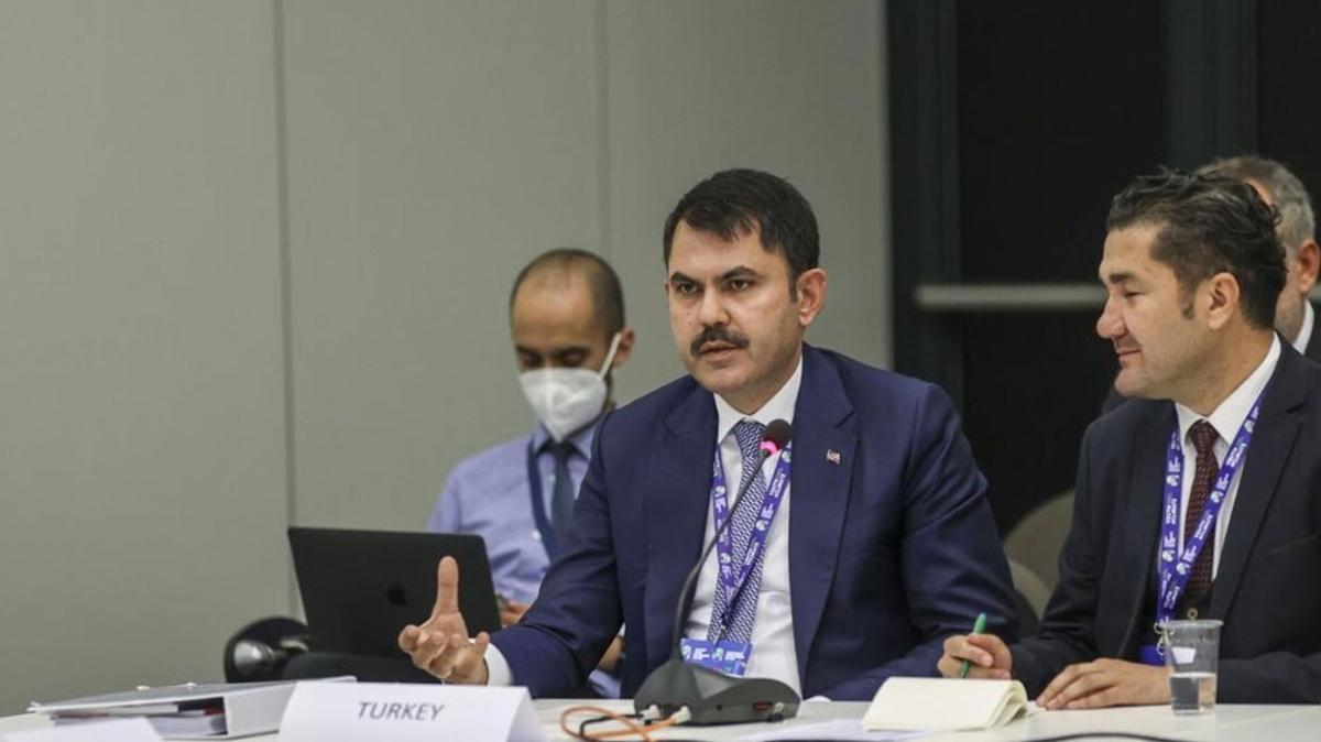 Çevre ve Şehircilik Bakanı Kurum, PreCOP26 Bakanlar Toplantısı'nda konuştu